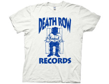 Different Colours High Quality Ripple Junction Death Row Records Blue Log Adult T-shirt Solid  O-Neck Casual shirt men Short