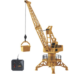 RC รีโมทคอนโทรลจำลองเครนก่อสร้างของเล่น RC Crane Tower RC รถบรรทุกของเล่นรุ่น 360 องศาหมุนวันเกิดของขวั...