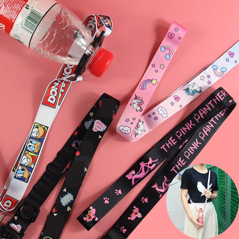 Travel Accessorie Woman Cartoon Water Bottle Buckle Suitcase Luggage Bag Portable Mineral Water Carrye Strap Organizer Security
