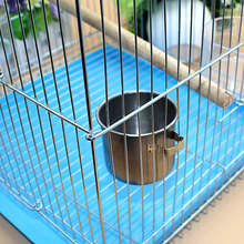 1Pcs Pets Stainless Steel Bird Feed Box Food Water Cups Metal Parrot Feeder Parakeet Cockatiel Feeding Bowls Supplies