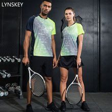 Фотография LYNSKEY Women/Men Badminton Tennis Clothing Table Tennis Shirt+Shorts Sport Clothes Set Breathable Quick Dry