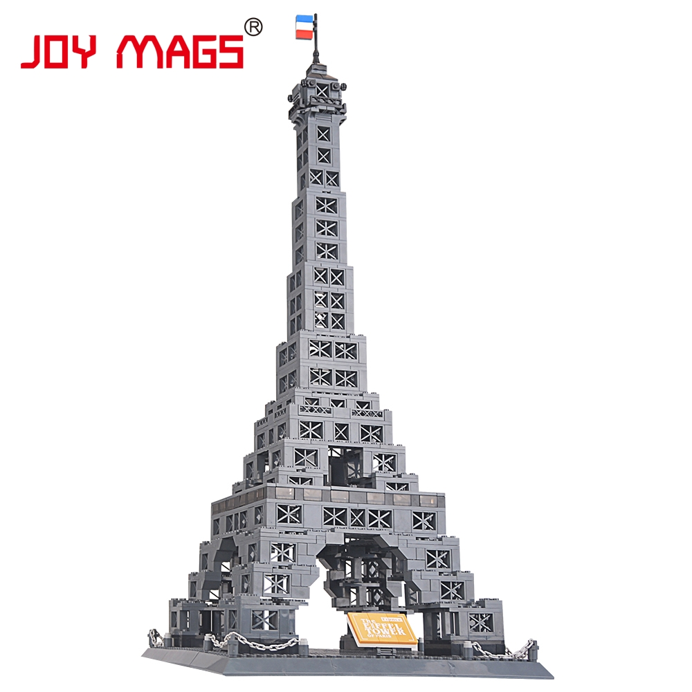 JOY MAGS Toy Famous Architecture series the Eiffel Tower 3D Model Building Blocks Classic Toys 8015 DIY Model Collection Gift series s 3d puzzle paper diy papercraft double decker bus eiffel tower titanic tower bridge empire state building