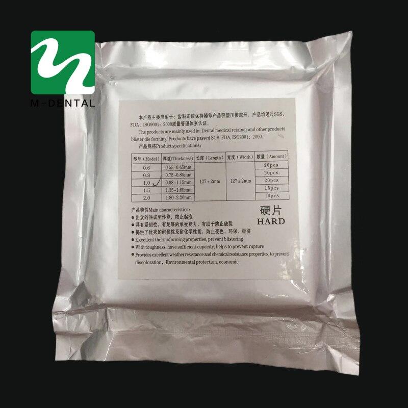 1 Bag Dental Material Hard Vacuum Forming Plate Matrix Bands Dental Orthodontic Retainer Slice 1.0mm/1.5mm/2.0mm For Option
