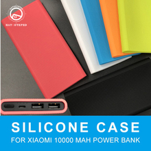 Silicone Power Bank Full Protector Cover Skin Shell Sleeve Only For Xiaomi 10000mAh Dual USB Powerbank Soft Cover Case стоимость