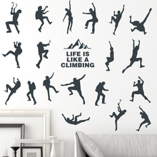 Custom Sportsmen Climbing Wall Stickers PVC Material Athletes Wall Decals  For Living Room Gymnasium Fitness Center Part 49