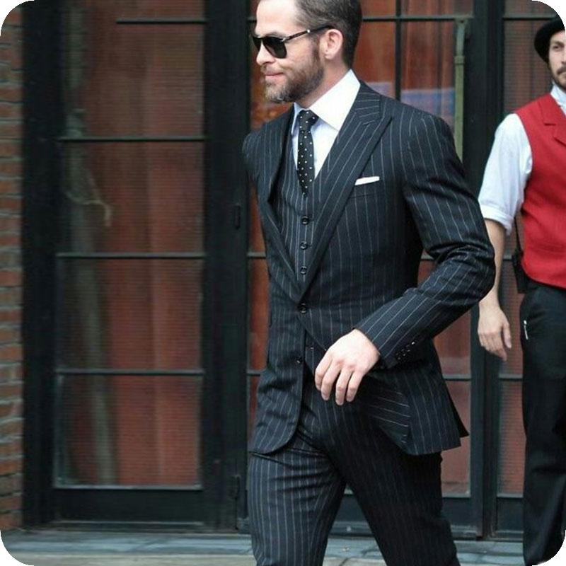 1 stripe Men Suits Wedding Suits 3pieces12 (140)