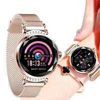 KARUNO H2 Smart Wristwatch Women's Watches 3D Diamond Glass Heart Rate Blood Pressure Sleep Monitor Waterproof Smart Watch