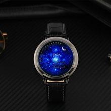 Creative personality moon strar design blue ball LED watch men women couple watch touch electronics casual digital watches reloj