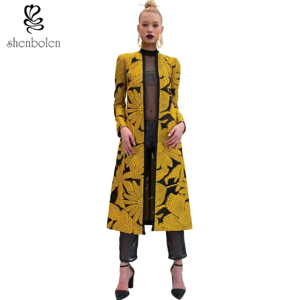 Primavera Otoño 2017 mujeres abrigo largo Africano para la ropa de ...