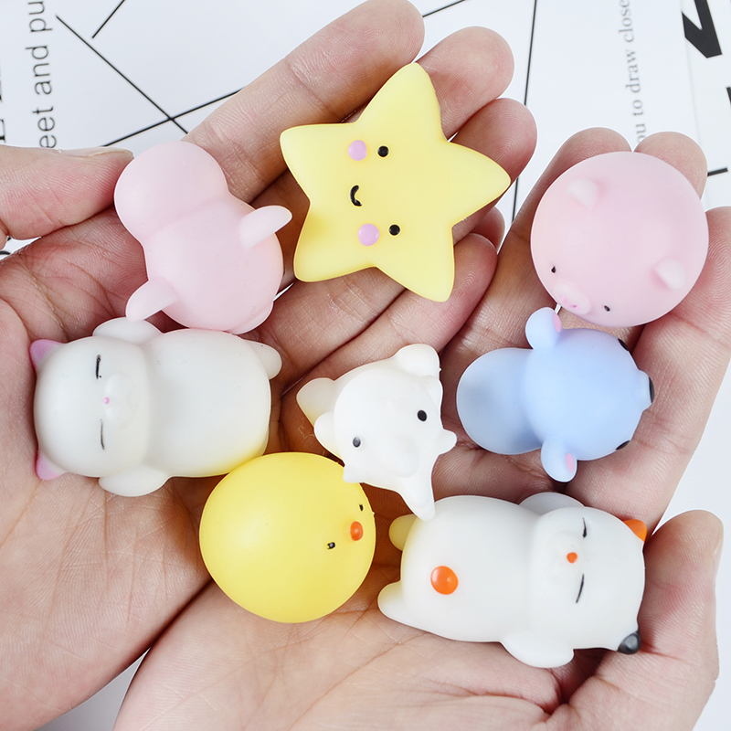 3pcs Mini Change Color Squishy Cute Cat Antistress Ball Squeeze Mochi Rising Abreact Soft Sticky Stress Relief Funny Gift Toy