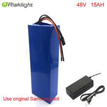 NO TAXES e-bike battery 48v 15ah li ion battery pack bike conversion kit bafang 1000w and charger(China)
