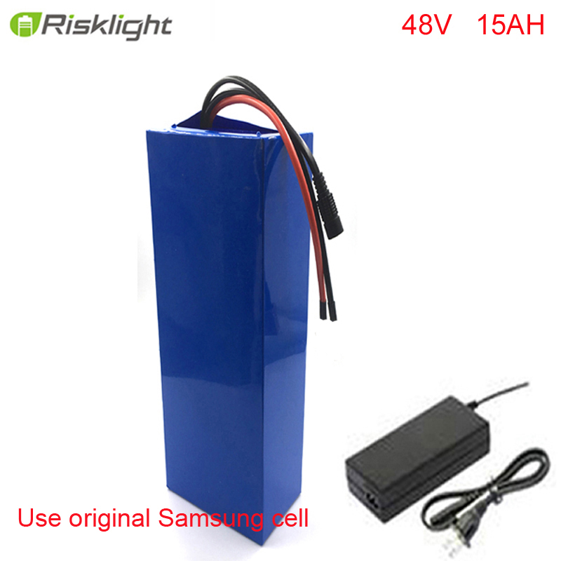 Sans TAXES batterie e-bike 48v 15ah li ion batterie kit de conversion de vélo bafang 1000w et chargeur
