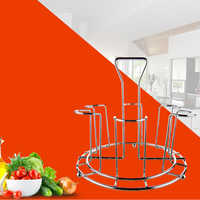 New 1Pcs Bar Metal Glass Cup Storage Rack For Water Mug Draining Drying Organizer Drain Holder Stand Useful Home Kitchen Supply