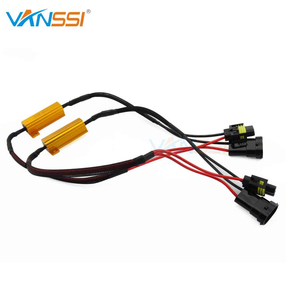 small resolution of aliexpress com buy 2pcs hb4 9006 led decoder resistor canbus wire harness adapter for led headlight fog drl lamp bulb from reliable wiring harness adapter