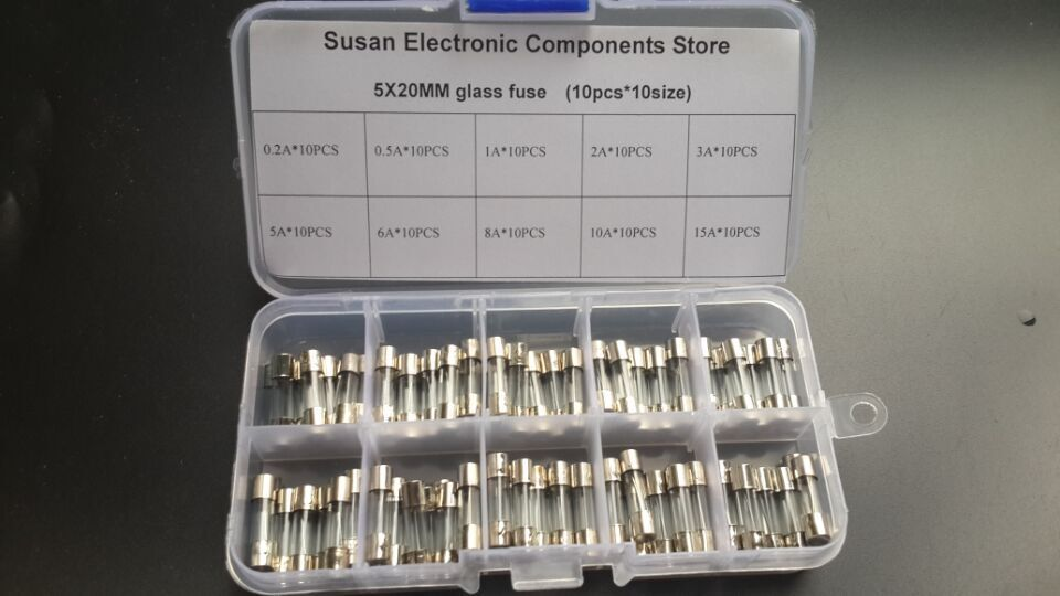 3A Purple-fox Fast Blow Glass Fuses Quick Blow Car Electric Glass Tube Fuses 5x20mm 250V 3Amp Against Overload and Short Circuit 100pcs
