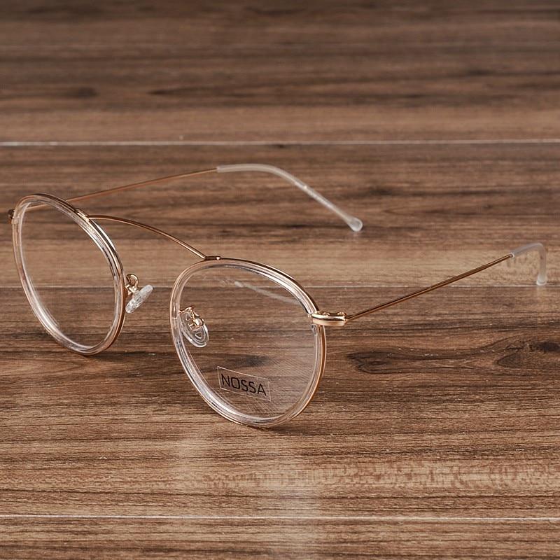 NOSSA Elegan Wanita & pria Putaran Bingkai Kacamata Vintage Logam - Aksesori pakaian