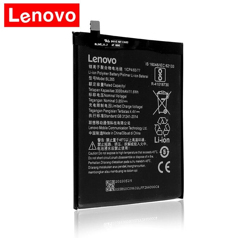 2018 Original BL265 for Lenovo XT1662 Battery For MOTO M XT1662 XT1663 battery 3000mAh Batterie Комедон
