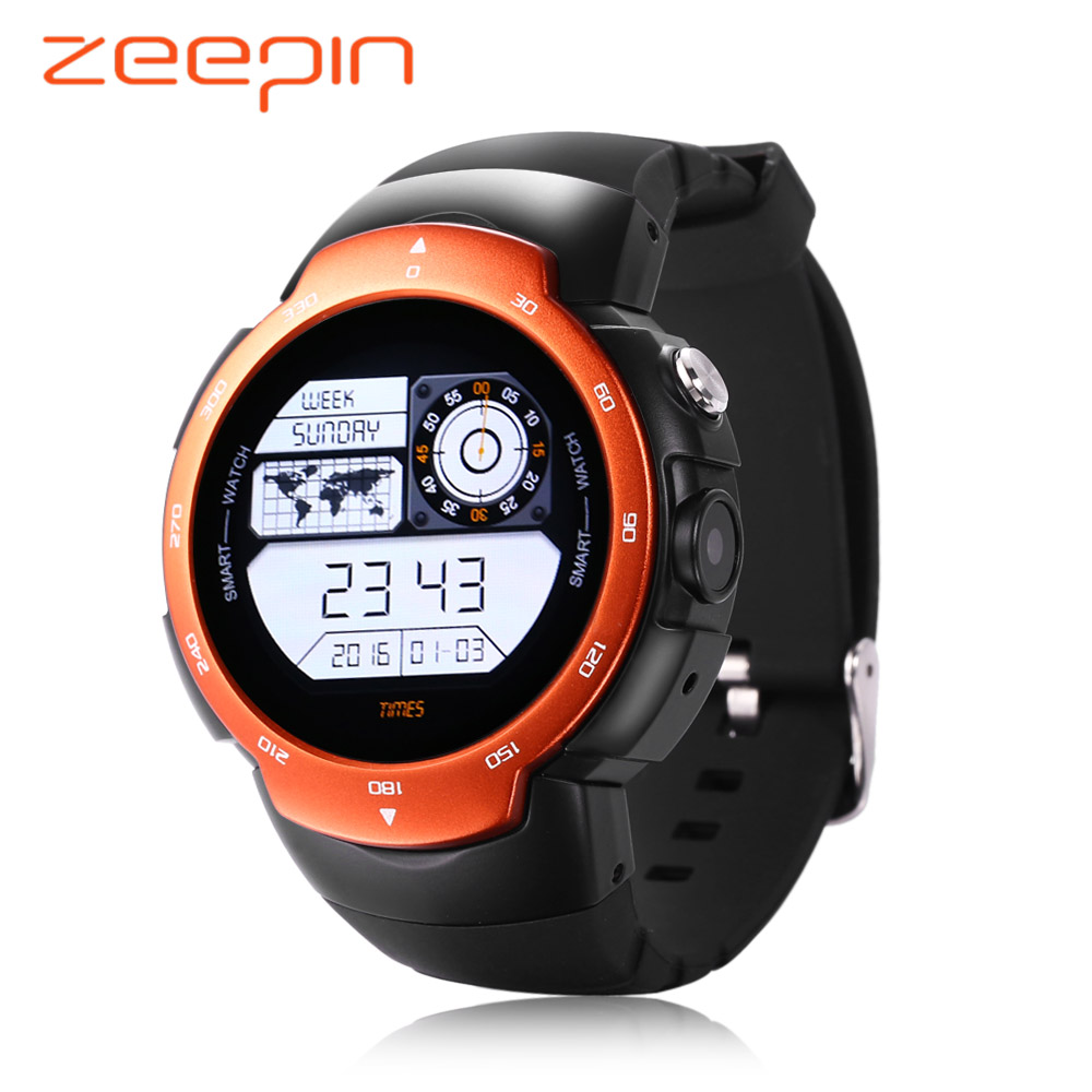 ZEEPIN 3G Smartwatch Phone Blitz MTK6580 Quad Core 1.3GHz 512MB RAM 4GB ROM Heart Rate Monitor GPS Pedometer for Android Phone цена и фото