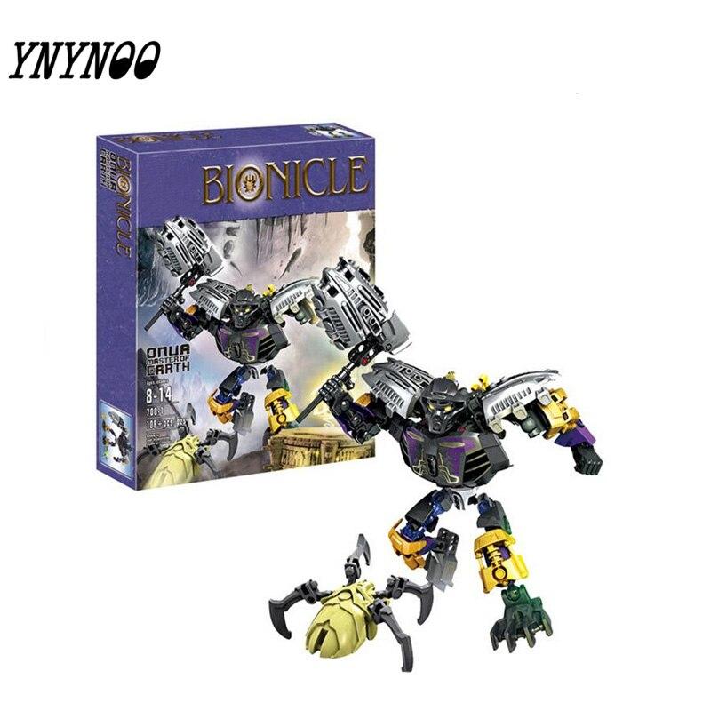 (YNYNOO)2017 new hot sale Bionicle onua master of earth XZS 708-1  Building Block Toys Action bionicle максилос и спинакс