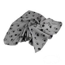 60*70cm Pet Dog Cat Blanket Soft Towel Paw Print Mat For Large Dog Puppy Bed Quilt Bath Towel Pet Car Cushion