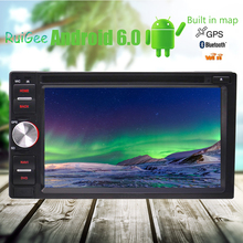 2 Din Android 6.0 Car pc Stereo tape recorder DVD Player GPS Navi Auto Radio Support/WiFi/Mirrorlink/OBD2/SWC/Dual CAM-IN