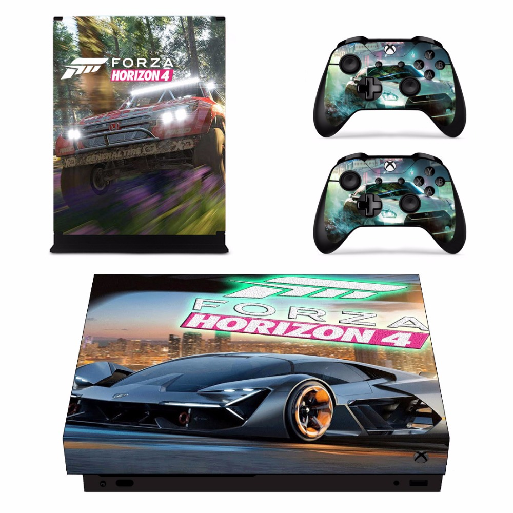 US $8 99 10% OFF|Forza Horizon 4 Skin Sticker Decal For Microsoft Xbox One  X Console and 2 Controllers For Xbox One X Skin Sticker Vinyl-in Stickers