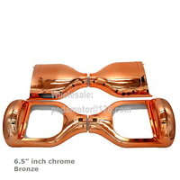6 5 Chrome Bronze Plastic Cover For Self Balancing Outer Shell Scooter Replacement DIY Kits Housing