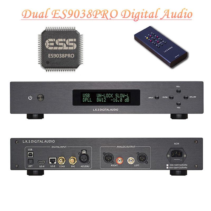 Nobsound Dual-core ES9038PRO DAC Digital to Analog Converter Audio Decoder DSD USB OPT nobsound dual ak4495 usb dac audio decoder dsd xmos xu208 digital to analog converter