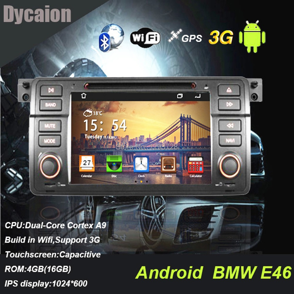 car dvd android for bmw e46 auto radio android 1 din for. Black Bedroom Furniture Sets. Home Design Ideas