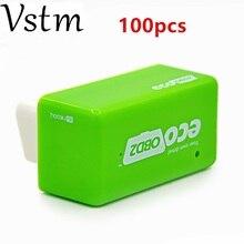 100 шт./лот Новое поступление ecoobd зеленый цвет Plug and Drive EcoOBD2 экономичный чип блок настройки для Benzine 15% экономия топлива