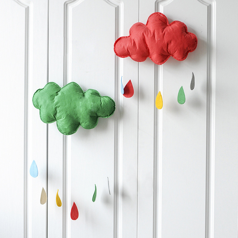 Baby Room Decoration Newborn Baby Bumper Clouds Rain Drops INS Style Children Play Moon Star Decor Cot Bedding Bed Bumper Baby