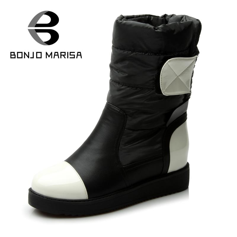 ФОТО Size 34-40 Women High Quality Warm Down Snow Boots Inside Add Fur Shoes Flat Heels Women Winter Shoes Ankle Boots