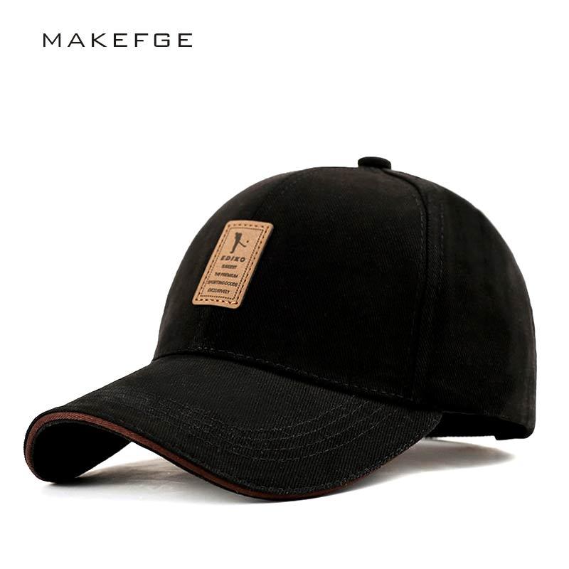Casquette Hats For Men Black   Baseball     Caps   Golf Hats Outdoor Gorras Hip Hop Bone Casual Cotton Sun dad Hat Snapback