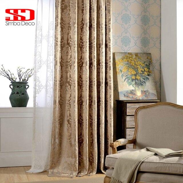 europese damast gordijnen voor woonkamer luxe jacquard blind gordijnen venster panel stof gordijn voor slaapkamer shading 70 custom