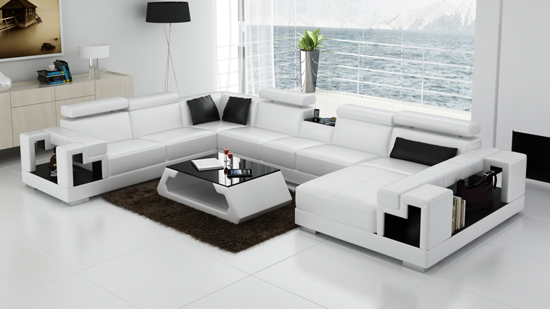 hign end white leather sofa - White Leather Sofa