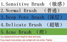 Free shipping Ultrasonic clari Face Brushes Sonic Cleaner Replacement Brushes head ultrasonic cleansing brush replacement