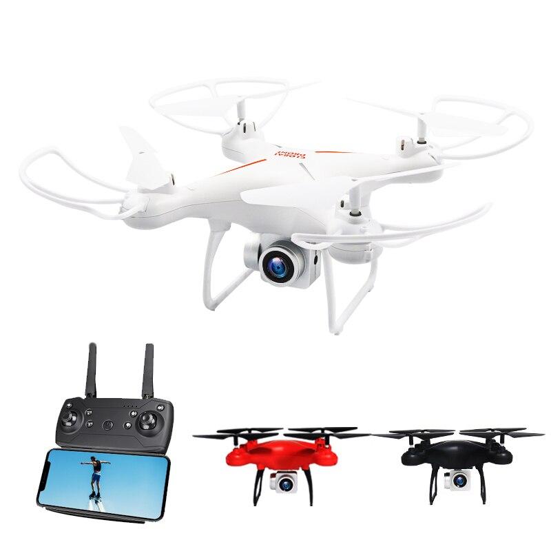 цена WIFI Real RC Drone with 5MP 1080P HD Camera 21 Mins WIFI FPV Altitude Hold One Key Return RC Quadcopter Helicopter vs H68 онлайн в 2017 году