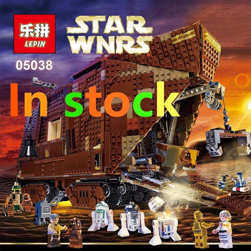 font b LEPIN b font STAR WARS 05038 3346Pcs Force Awakens Sandcrawler Model Building Bricks