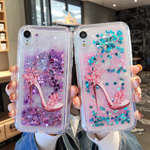 Glitter Bling Quicksand Dynamic Case For coque iPhone X S MAX Xs XR Soft TPU Cover 6 6s 7 8 plus phone case Fundas