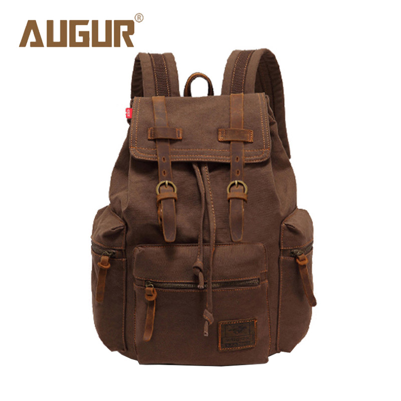 AUGUR New Brand Fashion Men's Backpack Leisure Retro Canvas Bag Women Backpacks For Teenage Girls School Bag AG0021