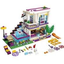 618pcs New Friends Livi's Pop Star House Legoings Model Building Block Kits Toy Best Gift for Kids