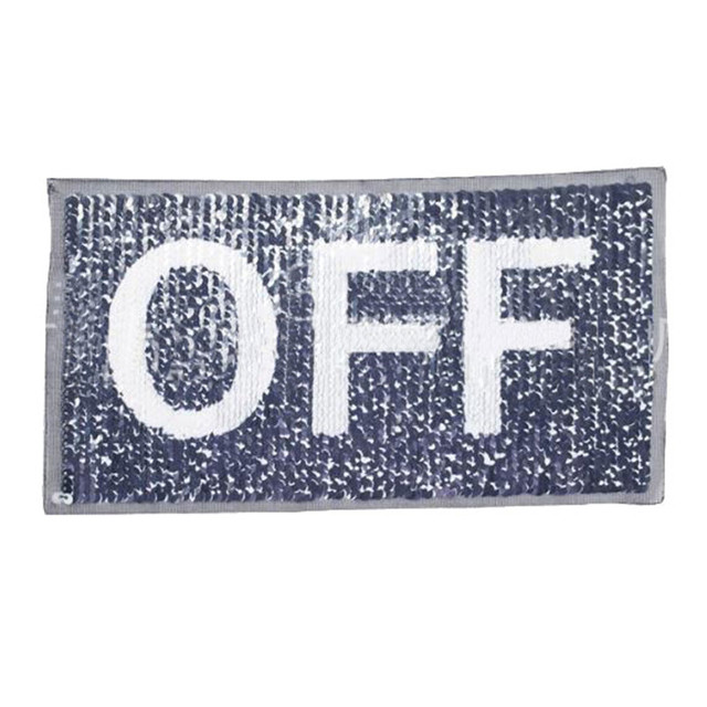 Clothes diy patch letters off - on change color flip the double sided  sequins stickers deal