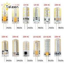 360 градусов G4 светодиодный 12 В DC 12 В AC DC 220 В AC 3014 лампа накаливания SMD 3 Вт 5 Вт 6 Вт 8 Вт 9 Вт домашние магазины офисы студийное и выставочное освещение