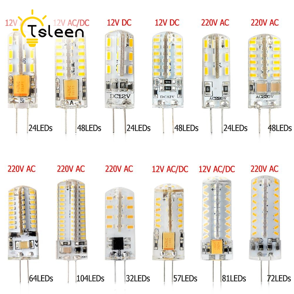 360 degree <font><b>G4</b></font> <font><b>LED</b></font> 12V DC 12V AC DC <font><b>220V</b></font> AC 3014 SMD Bulb Lamp 3W 5W 6W 8W <font><b>9W</b></font> home shops offices studio and exhibition lighting image