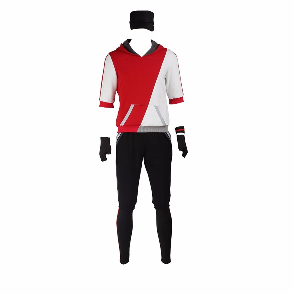 Mens Pokemon Go Teams Trainer Cosplay Costume Red Tailor Made
