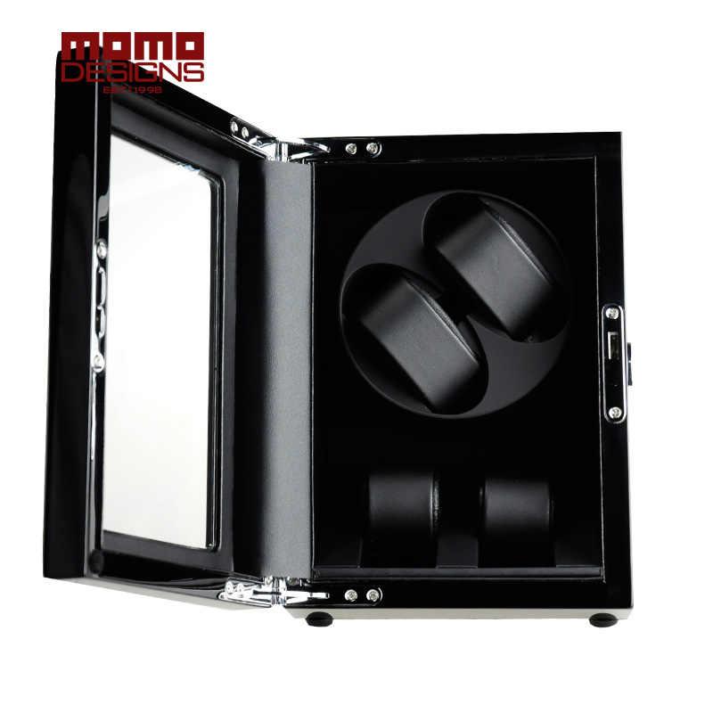 Caja enrolladora de reloj de lujo para 4/6/12 caja de almacenamiento de reloj automático con ventana de la puerta delantera y batería caja/caja de regalo de cumpleaños