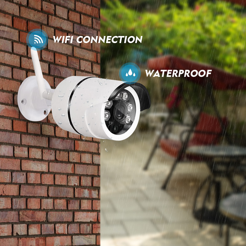 Wifi HD Waterproof Bullet IP Camera 1MP 720P Night Vision Surveillance Camera For Home Security Out-door Use ONVIF P2P H.264 C 720p hd wifi camera night vision p2p ip camera 1 0mp waterproof ir cuts surveillance camere for home security