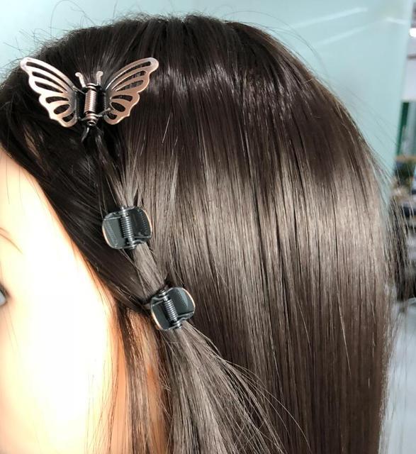 3 шт заколки крабы для волос в виде бабочек