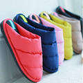 Winter Warm Down Cotton Slipper Couple Home Shoes House Slippers Cotton-padded Indoor Pantufa Pink Terlik Home Shoes Women Men