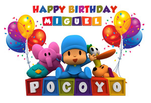 Image 2 - Sensfun Cartoon Pocoyo Birthday Party Backdrop For Photo Studio Colorful Balloon Photography Backdrop Photo Both 7x5FT Vinyl